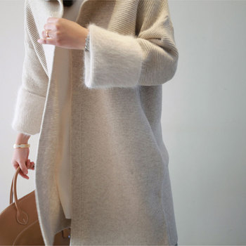 Long Sweater Cardigan   Korean Autumn Spring Long Cardigan Female Open Stitch Loose Long Sleeve Knitted Cardigans Sweater Women Cardigan Feminino