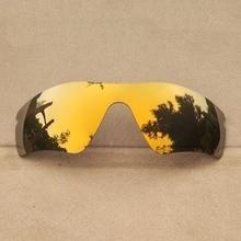 6ed718147a Bronce oro Mirrored lentes para Radarlock Path gafas de sol marco 100% UVA  y UVB Anti-reflectante