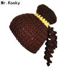 Mr.Kooky Princess Dream Hat Women Girls Cute Autumn Winter Wig Caps Gorro Children Birthday Unique Gifts Handmade Knit Balaclava(China)