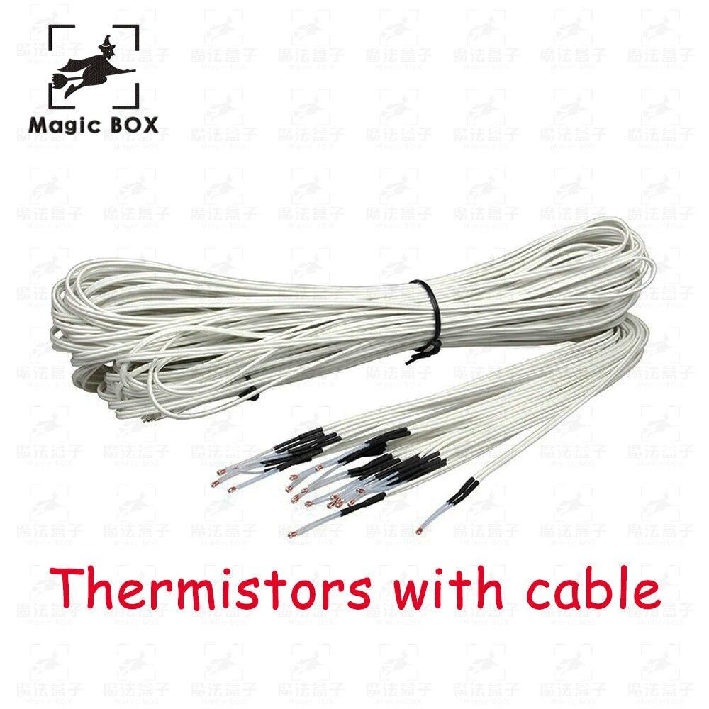 100Pcs lot 3d printer parts 100K ohm NTC 3950 Thermistors with cable for 3D Printer Reprap