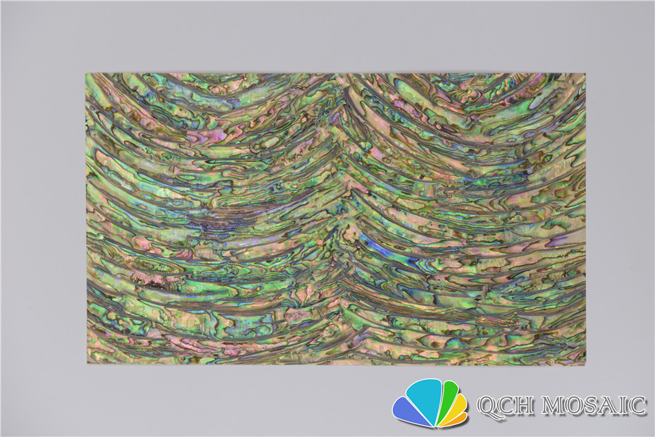 Купить с кэшбэком New Zealand abalone paua shell mother of pearl laminate sheet for musical instrument and wood inlay cambered pattern