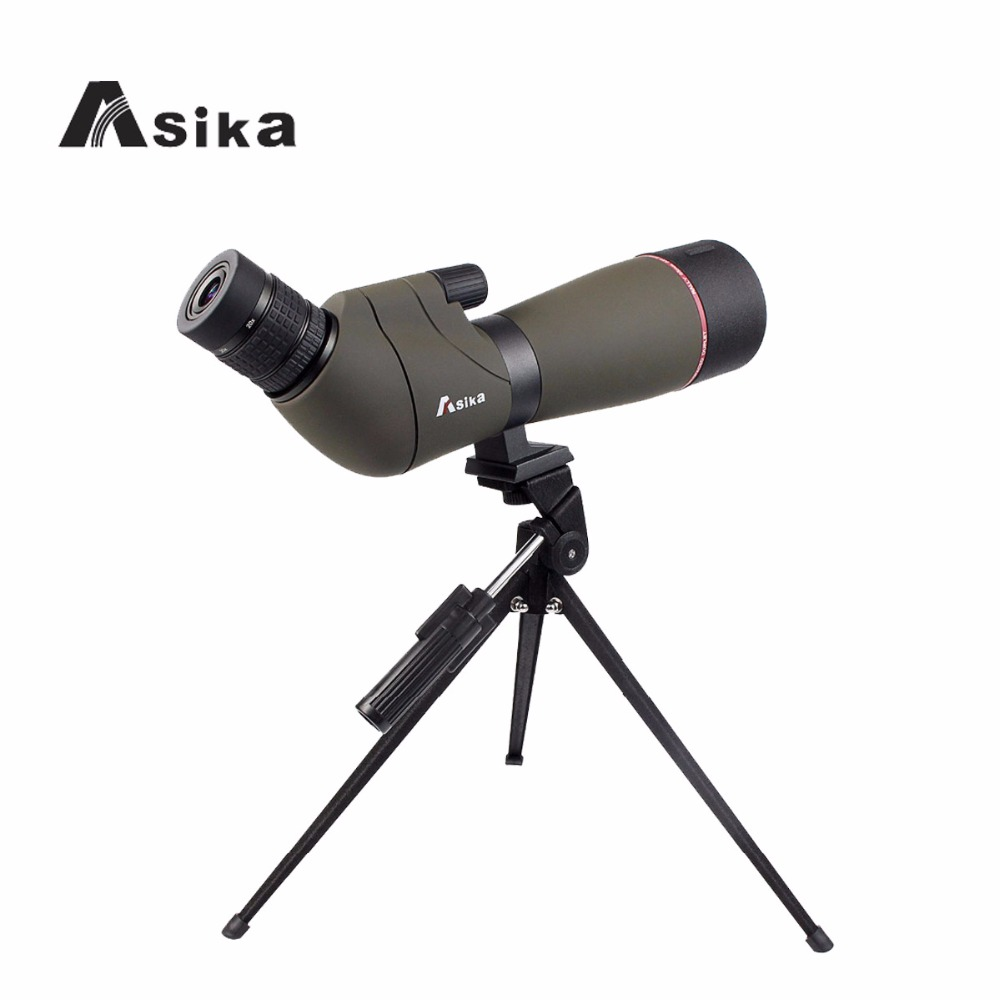 Asika 20-60x65 Spotting Scope FMC Waterproof Angled Zoom Telescope /Cell Phone Adapter Universal Monocular W2784 new tp3196s1 touch screen glass panel