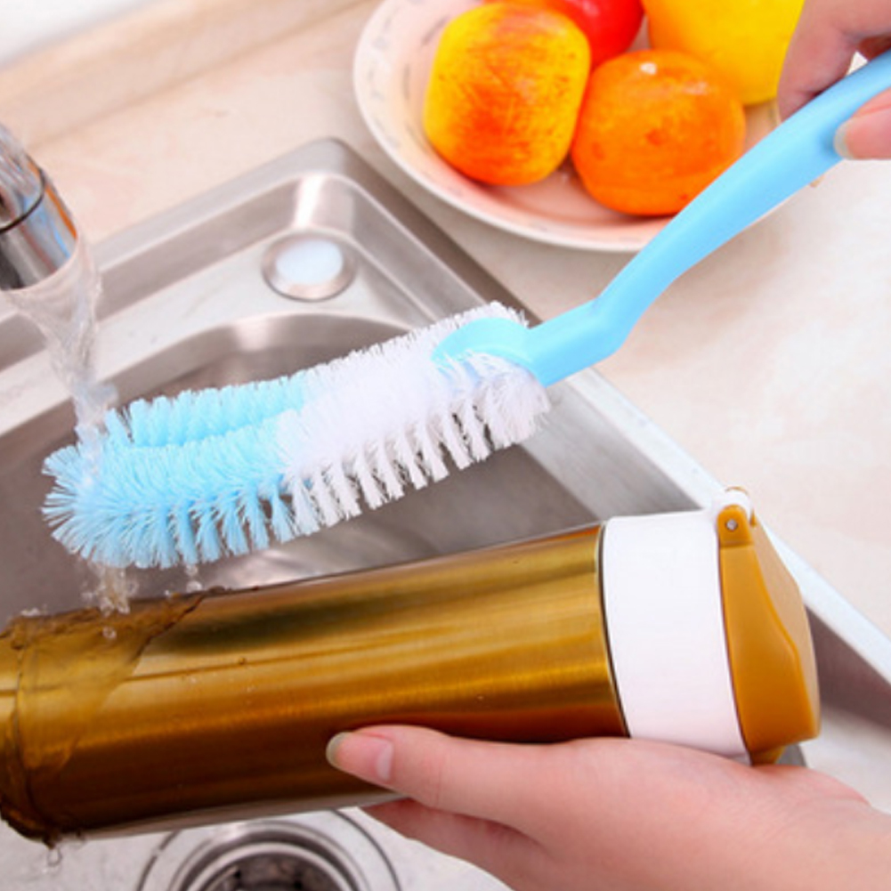 Bottle Brush Cup Unisex Baby Green Brush Bottle Casual Handle Cleaning Long Pink Multifunction Blue
