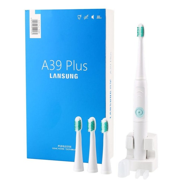 Professional Rotation Type A39 Plus Electric Toothbrush Rechargeable Waterproof Electric Toothbrush +4 Brush Heads US Charger