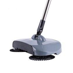 Nowa zamiatarka ze stali nierdzewnej typu Push ręczna miotła z szufelką i rączką do czyszczenia gospodarstwa domowego ręczna zamiatarka Mop|Elektryczne mopy do podłogi|AGD -