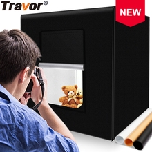 Travor Light Box 40cm 16inch Dimmable Photography Led Light 24W 13000LM CRI95 Luces Led Lightbox with 3 Color Background Paper