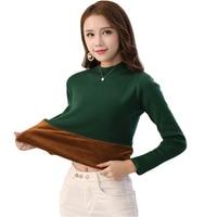 2018 New Pullover Sweaters Women Fleece Warm Long Sleeve Autumn Winter Thick Slim Korean O Neck