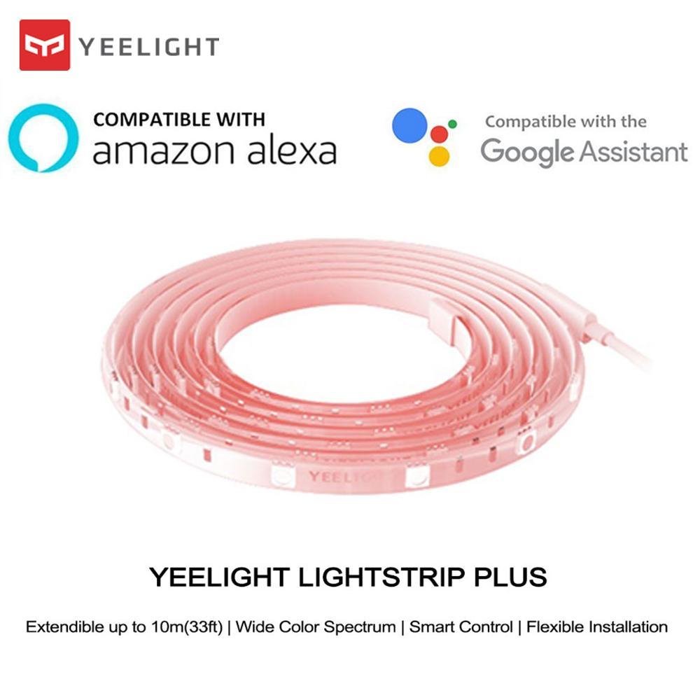 Novo Xiao mi mi jia Yeelight Light Strip Plus Versão Upgrated de Extensão Inteligente Tira CONDUZIDA Faixa de Luz de trabalho para mi aplicativo para casa