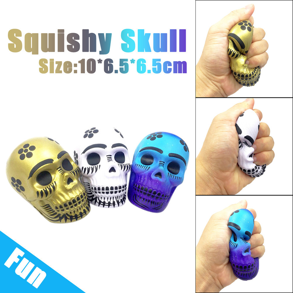 Antistress Elastic Environmentally PU Exquisite Fun Galaxy Skull Scented Squishy Charm Slow Rising 10cm Kid Toys Gift