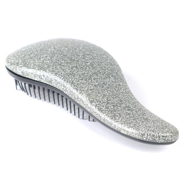 1Pcs Hot Sale Glitter Handle Tangle Detangling Comb Shower Hair Brush detangler Salon Styling Tamer Tool hairbrush Free Shipping