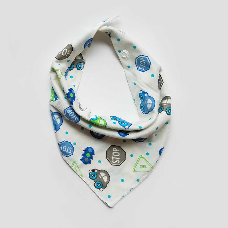 Bebê baberos bandana babadores bibs triângulo bibs burp panos de algodão dos desenhos animados da criança