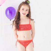 Funfeliz Girl Bikini 2018 Baby Girl Swimsuit Two Pieces Bathing Suits for Children Kids Swimwear Beach Bikini Set Swim Wear