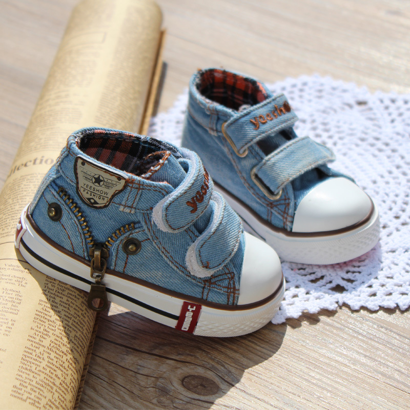 New style children canvas shoes girls and boys fashion flats shoes breathable kids sneakers child casual baby shoes size 19-24
