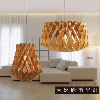 Lampen Nordic moderne minimalistische bar hout nieuwe diamond originele houten houten slaapkamer restaurant creatieve Hanglamp MZ16