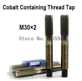 Free Shipping 2PCS TG M30*2 containing cobalt HSS machine taps straight fluted tap special stainless steel screw tap ,Thread Tap