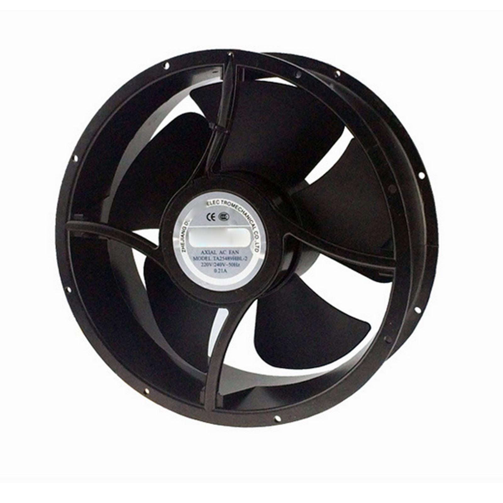 220V AC 254x89mm Round Axial Radiator Fan 860CFM 2600RPM Ball Bearing High Speed