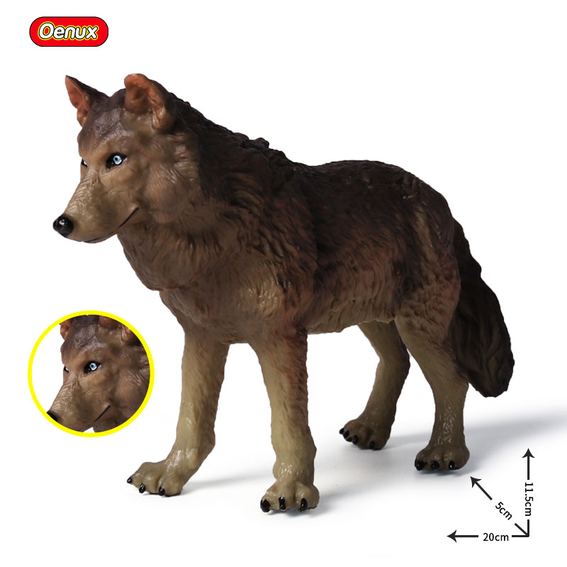 Oenux Forest Wildlife Savage Animals Wolf Wolves Beast Animal Model Action Figures Collection