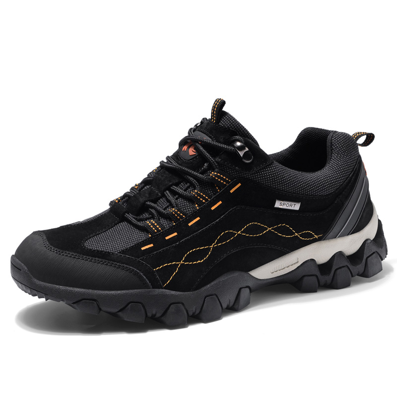 Genuine Leather Men Shoes Waterproof Fashion Sneakers Male Outdoor High Quality Lace Up Hiking Casual Shoes Men in Men 39 s Casual Shoes from Shoes