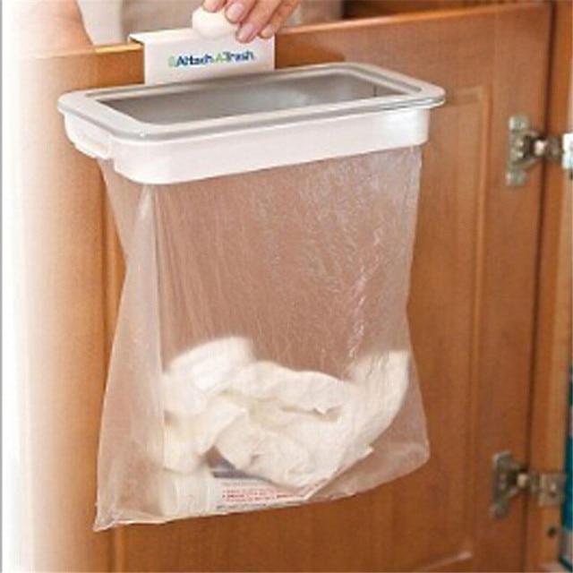 1 Set Cupboard Door Hanging Trash Storage Drawer Trash Can Hanging Kitchen Cabinet  Garbage Storage Kitchen