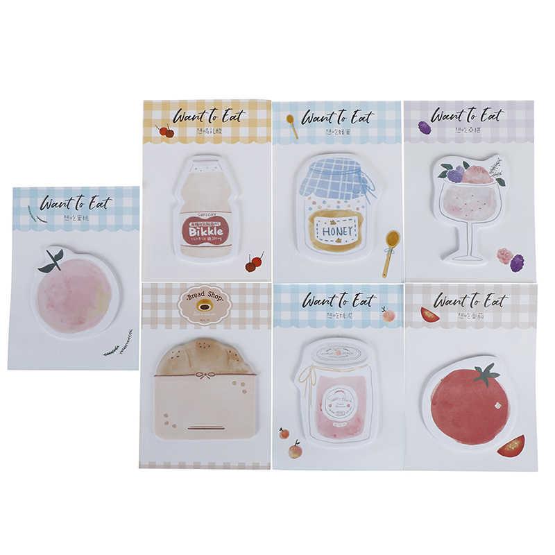 Kawaii хотите есть еда клейкие стикеры для заметок блокнот школьные принадлежности планировщик наклейки бумажные закладки для офиса канцелярские принадлежности