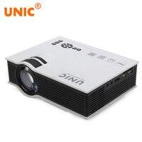 Оригинальный UNIC UC40 + проектор мини Pico led дома Кино проектор USB SD AV HDMI Поддержка Full HD 3D видео мультимедийный проектор
