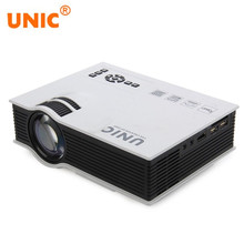 Original UNIC UC40+ Projector Mini Pico LED Home Cinema Projector USB SD AV HDMI Support Full HD 3D Video Multimedia Projector