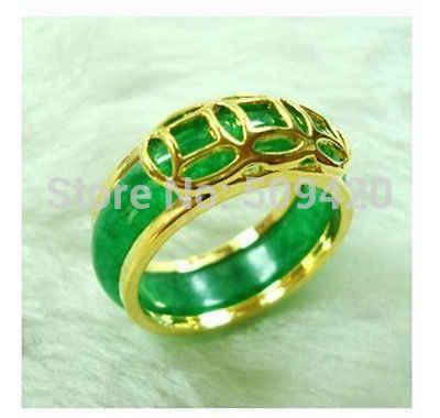 XFS20141er > Unisex เครื่องประดับสีเขียวหยกแหวนหินขนาด: 7 #8 #