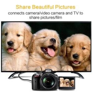 Image 3 - Mini HDMI a Cable HDMI 1080p 3D adaptador de alta velocidad enchufe chapado en oro para cámara monitor proyector notebook TV 1M, 1,5 m,2M,3M,5M