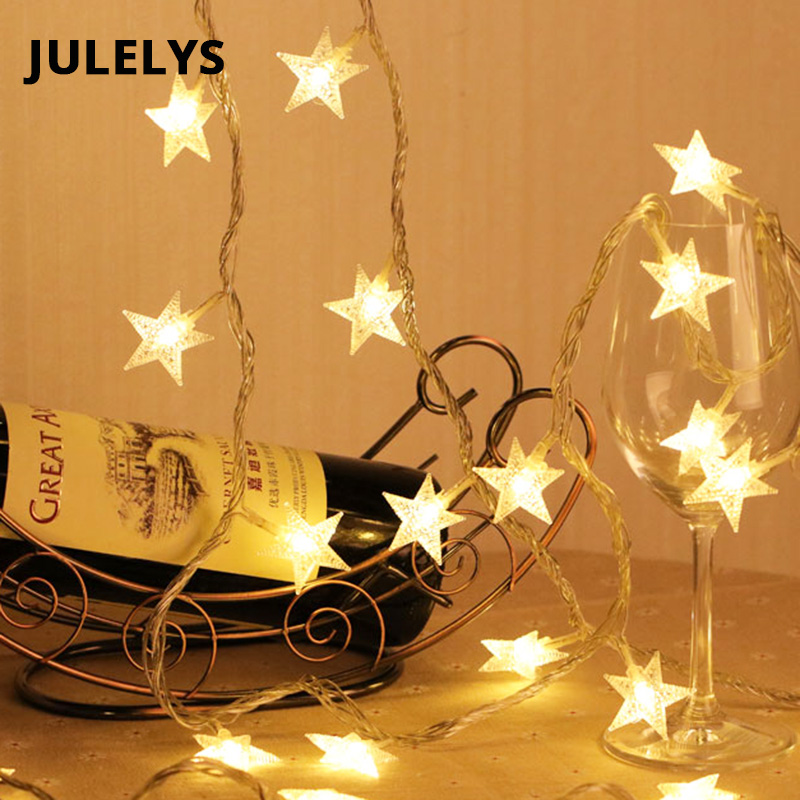 Garland LED Star String Lights Christmas Festoon LED Lights Decoration For Wedding Holiday Party New Year Light