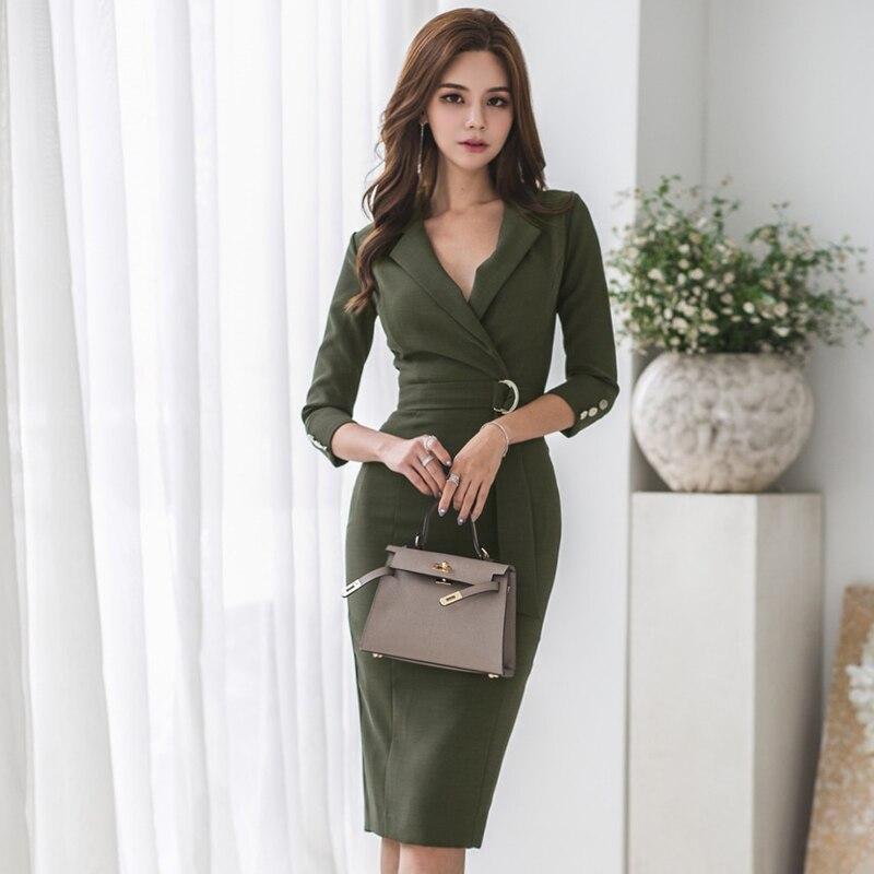 Blouses & Shirts Bgteever Autumn V-neck Lace Up Long Women Blouse Shirt Elegant Slim Waist Female Blusas 2018 Casual Women Bandage Tops