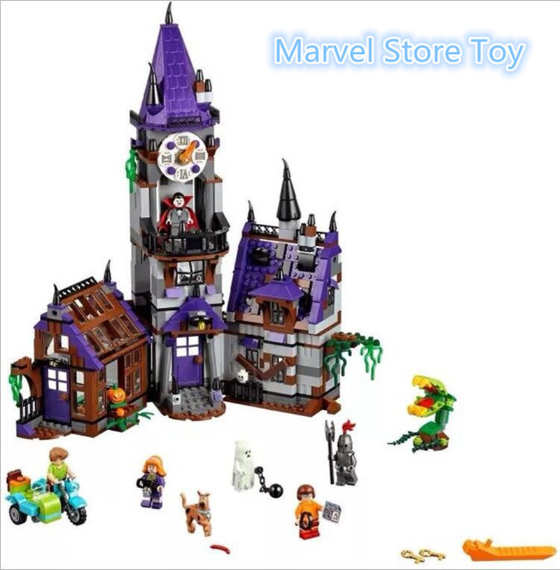 ФОТО Bela 10432 Scooby Doo Mysterious Ghost House Building Block Toys Lepin