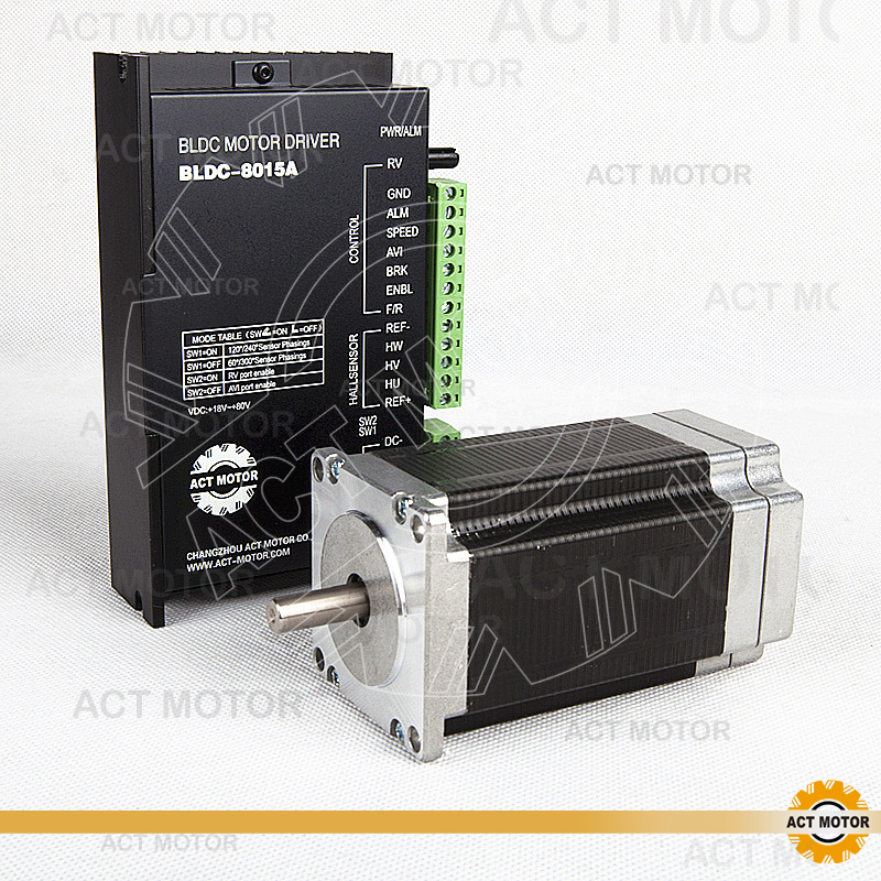 ACT Motor 1PC Nema23 Brushless DC Motor 57BLF03 24V 250W 3000RPM 3Phase Single Shaft+1PC Driver BLDC-8015A 24-50V CNC Kit Plasma bldc motor driver controller 120w 12v 30v dc brushless motor driver bld 120a