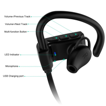 Ear Hook Wireless Headphones Stereo Earbuds Bass Headset with Mic for Xiaomi Xiao iPhone