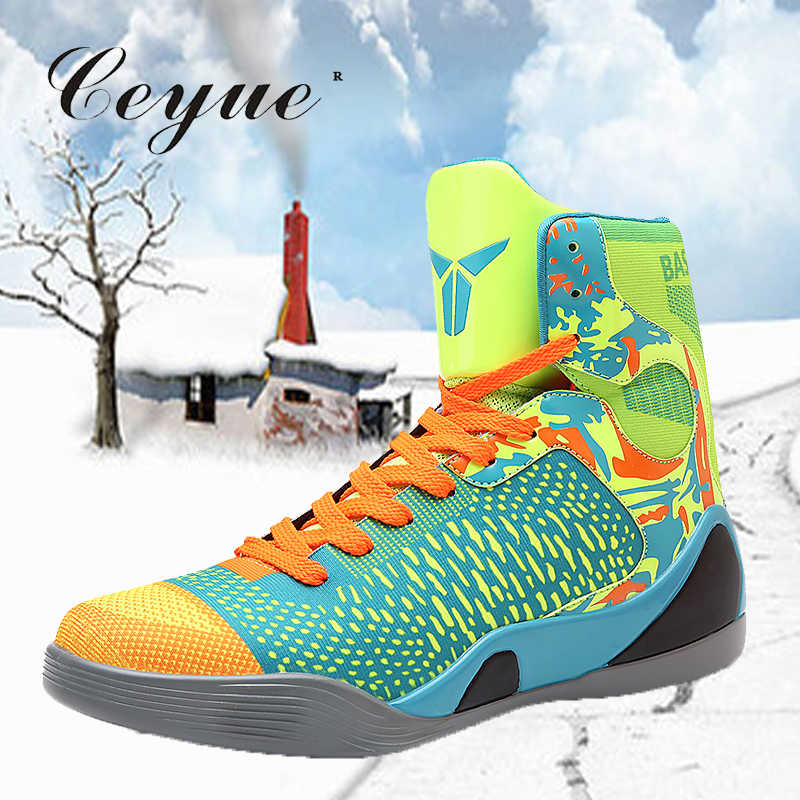 e2c94455de9 Ceyue 2019 Basketball Shoes Men Sneakers Lebron James Shoes High top Ankle  Shoes Air cushion Shockproof