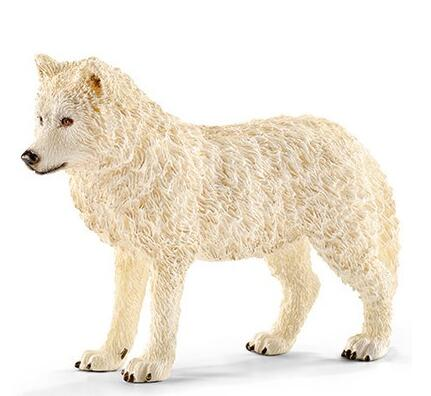 Моделирование животных модели Arctic Белый Волк Рисунок собак модели игрушки Дети подарок на день рождения Direwolf Игра престолов ...