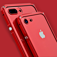 Luxury Aluminum Metal Case For IPhone 7 Cover Clear Acrylic Back Phone Cases Covers For IPhone