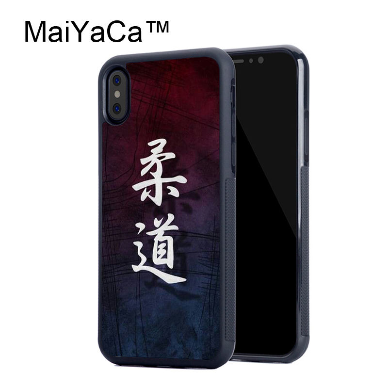 Maiyaca Janpan дзюдо Мягкие TPU черный чехол для Apple IPhone X Чехлы для iphone х чехол для телефона Капа