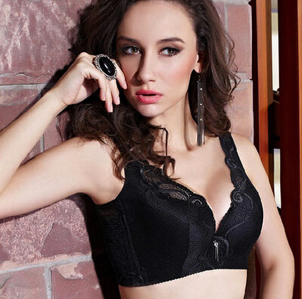 Sexy  comfortable ultra-thin cup sexy bra for lady push up full thin Lingerie women gather Push Up Brassiere