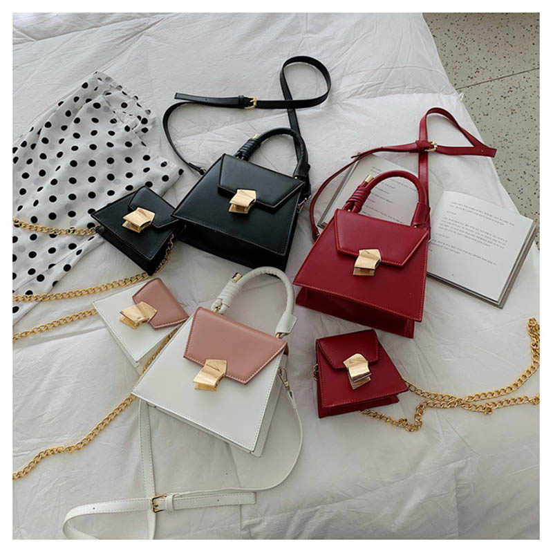 f3ae410374cd Flap Bags for Women 2019 High Quality Panelled Color Women Handbag ...