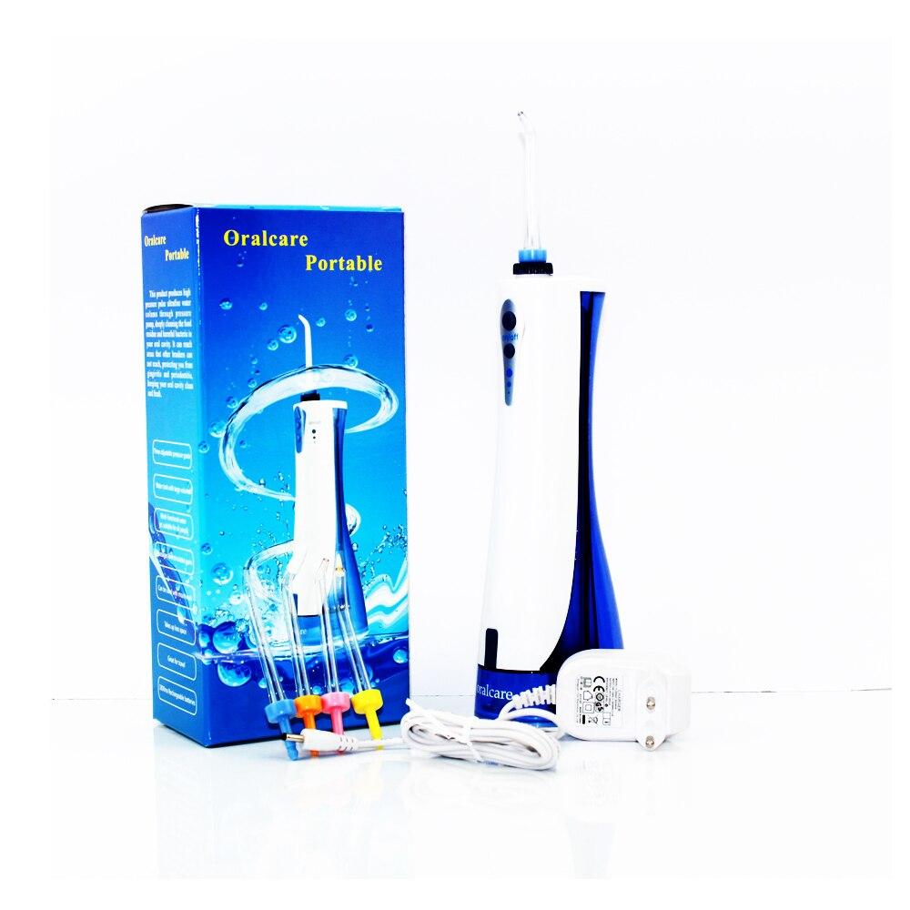 Soins dentaires Oral Irrigator Eau Flosser Dents SPA Pick Laverie,, eau Flosser avec Noir sac d'emballage et 4 Jet Conseils