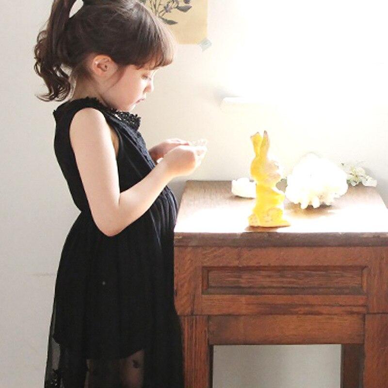 Dentelle filles robe été 2017 blanc noir princesse décontracté mode adolescent bambin Costume pour enfants enfants vêtements 12 10 ans - 2