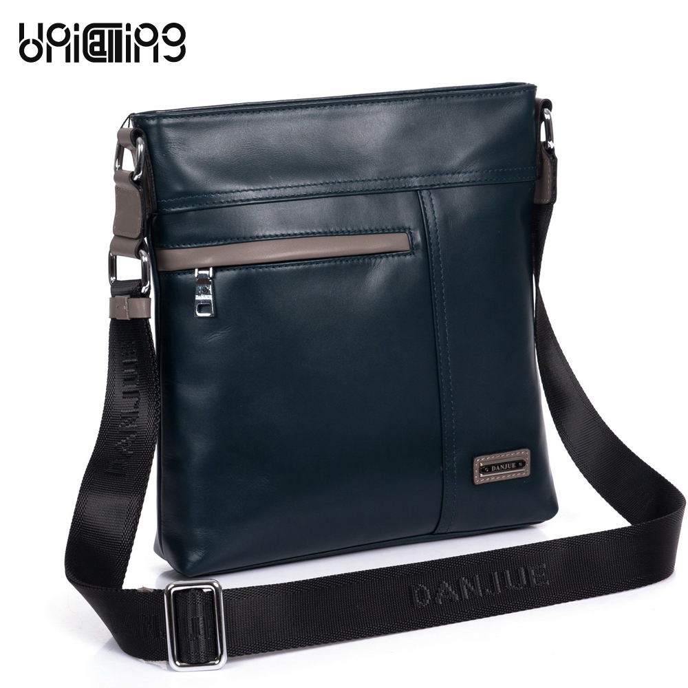 UniCalling male casual leather messenger bag high quality men genuine leather shoulder bag Top Layer cowhide men bag leisure high quality casual men bag