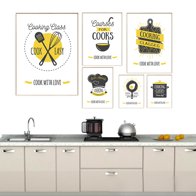 Christmas Modern Kitchen Decoration A4 Art Canvas Poster Wall Picture  Nordic Kids Room Home Decor Canvas