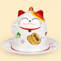 ceramic coffee mug home decor crafts room decoration ceramic ornament porcelain figurines mug animal figurines cat