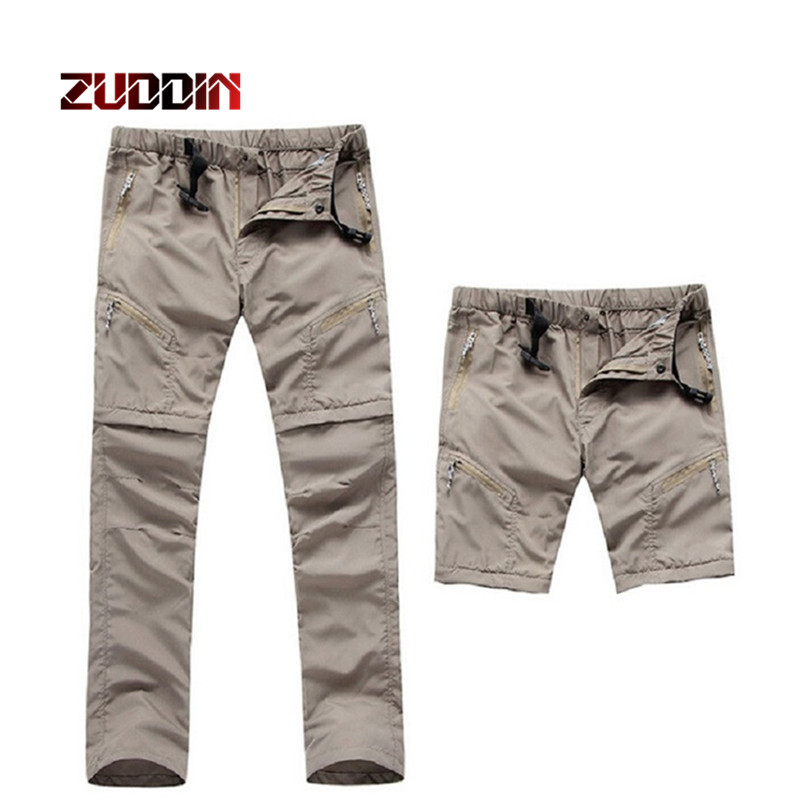Dropshipping 2018 New Mens Quick Dry Removable Hiking Pants Sport Summer Breathable Thousers Camping Trekking Fishing Shorts