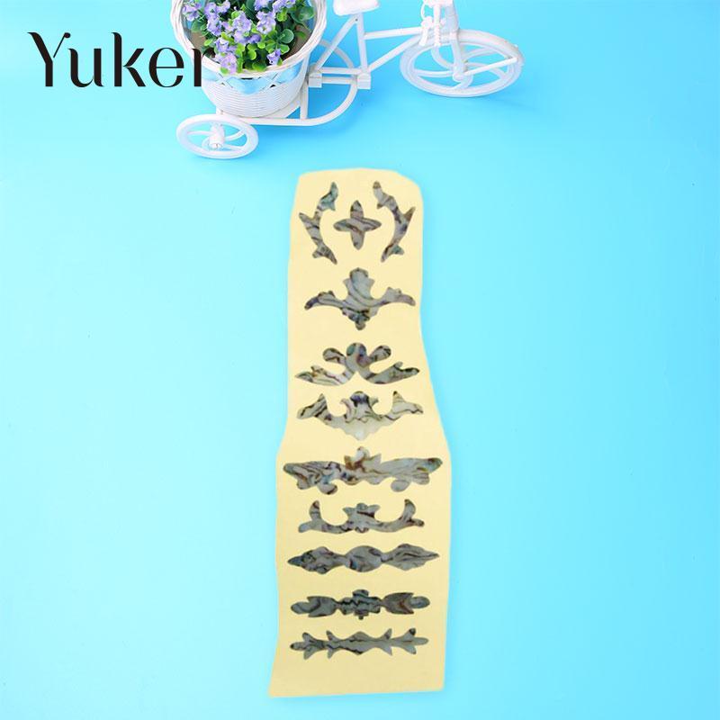 Yuker Electric Guitar Bass Inlay Sticker Fret Fretboard Marker DIY Decor guitar or bass tree of life fretboard silver color inlay ultra thin sticker