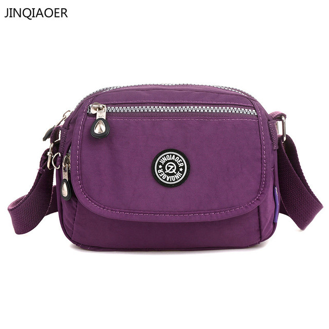 Jinqiaoer Por Style Women Handbags Nylon Small Shoulder Bag Fashion Monkey Female Business Travel