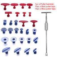 PDR Tools Set Paintless Dent Removal Car Repair Tool Kit Removing Dents Auto Tools T Bar Side Hammer W/28pc Puller Tap