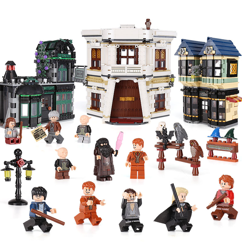In stock Lepin 16012 DHL Movie Series The 10217 Diagon Alley Set Model Building Bricks Blocks Toys For Kids Christmas Boys Gifts doinbby store  16012 2075pcs movie