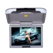 Monitor de techo de coche TFT LCD de 13 pulgadas con soporte de techo abatible LED Monitor de pantalla ancha Digital